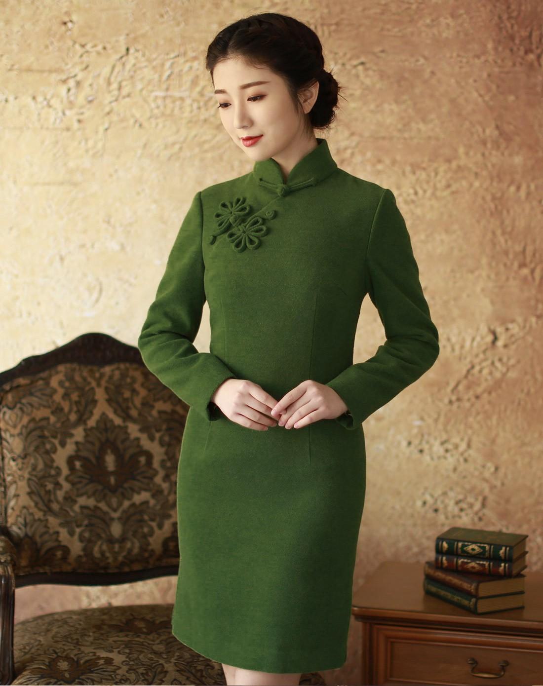 庞哲高端旗袍私人定制公司 个人高级定做时尚旗袍
