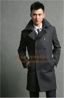 庞哲高级男士大衣个人定制 厂家量身定做