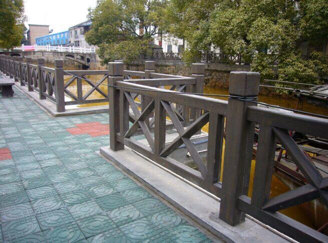 艺术护栏,小区围栏,广州仿木栏杆