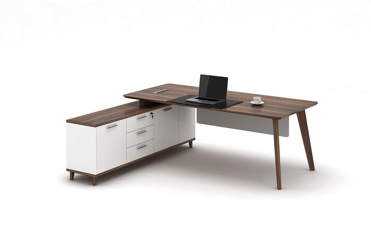 雍派家具-板式-办公台-yp-胡桃木