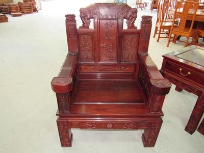 红木家具小象头花枝木沙发(六件套)