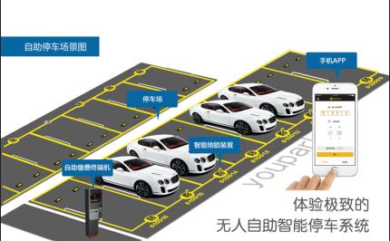 upark遥控全自动车位锁 汽车停车位锁地锁 智能