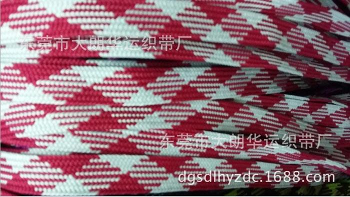 东莞【工厂生产】12mm深灰 紫色红色 黄色间色单层扁带