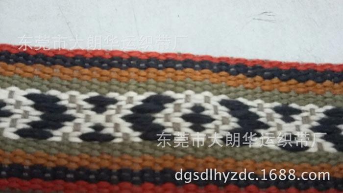 【东莞工厂提供】3.5CM棉间色提花织带