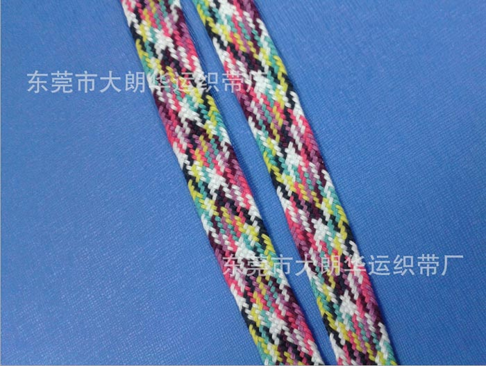 【厂家直销】间色织带 间色走马带 25锭间色带