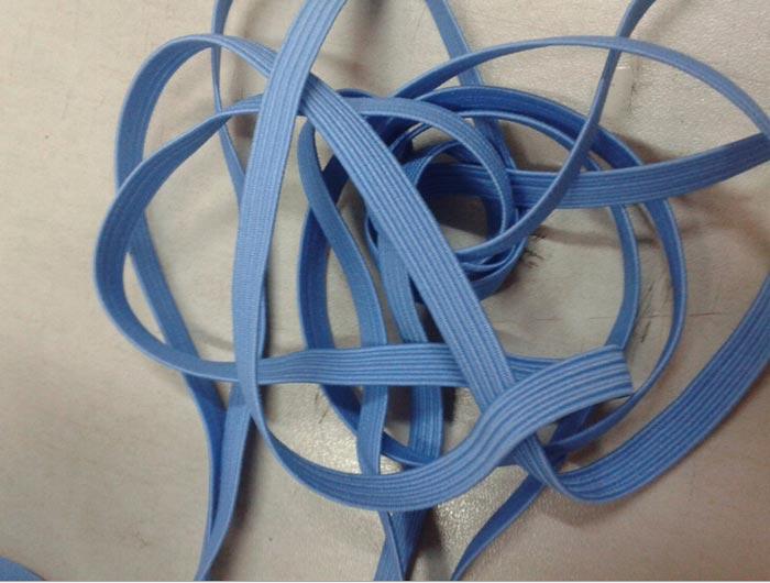 【厂家直销】6mm涤纶纱蓝色走马松紧带