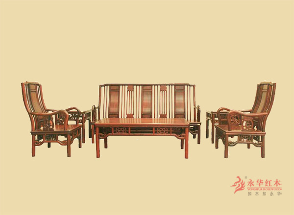 十大品牌@广东古典红木家具%永华红木家具沙发图片