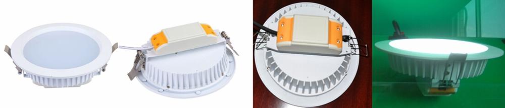 欧式热销产品    8寸25瓦压铸LED筒灯外壳/配件