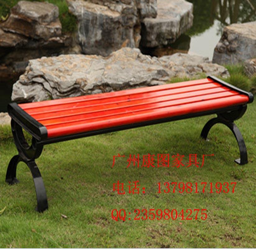 供应广场休闲凳,铸铁脚木椅子,户外休闲座椅(图)图片
