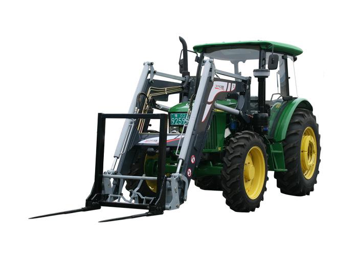 轮式拖拉机液压前装载机/前装载叉车图片