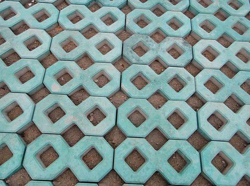 草皮砖人行道效果图-泰安热销 草坪 砖 菏泽 彩色 花砖图片