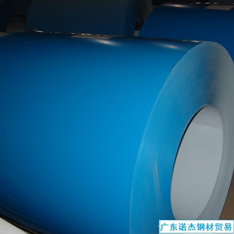 宝钢彩涂钢板 PE聚酯象牙白TDC51D+AZ100彩涂卷 0.5*1000mm
