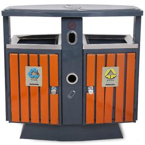 【绵阳不锈钢木条分类户外垃圾桶】绵阳不锈钢木条桶
