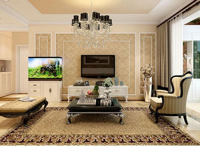 各种风格的客厅电视背景墙装修效果图(二)