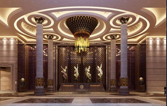 大唐国际假日酒店混搭风格装修设计效果图   大厅