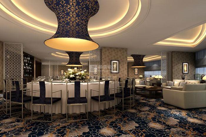 山西運城鑫源建國飯店裝飾工程效果圖   餐廳包廂