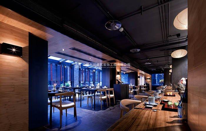 新古典日式风格日式料理店饭店餐厅装修有什么可以免费领红包案例效果图——大厅