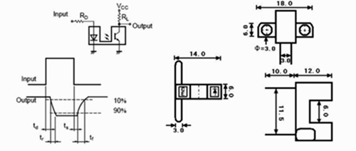 槽式光电开关tp808