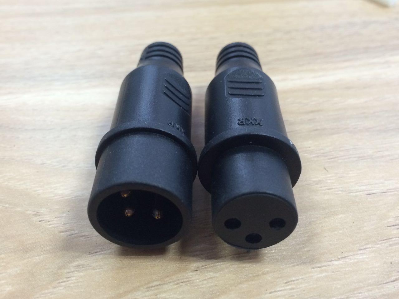 三芯防水连接器批发 LED防水插头厂家