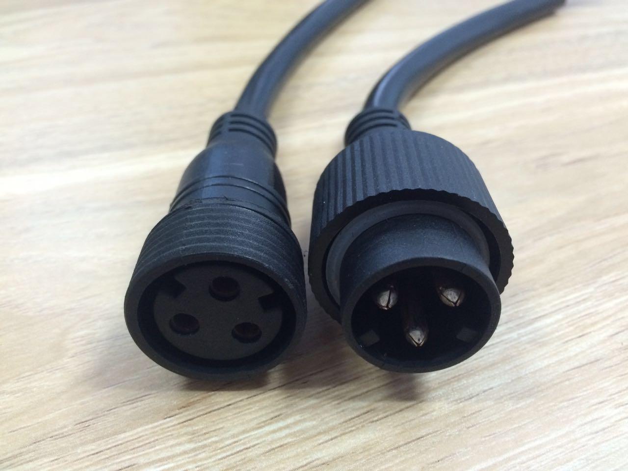 兴凯锐三芯防水插头连接线 防水插头厂家