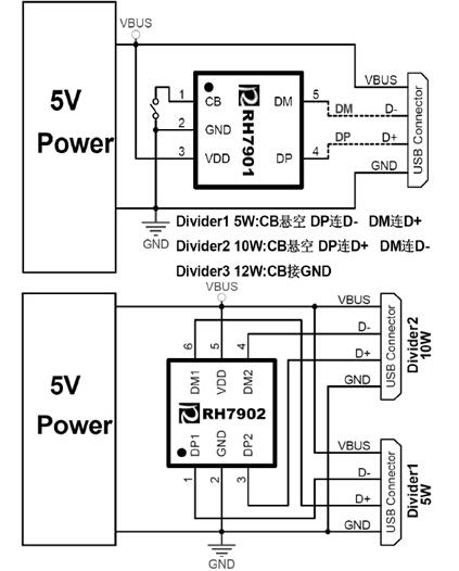 苹果三星充电协议智能识别芯片- rh7901/7902转发分享