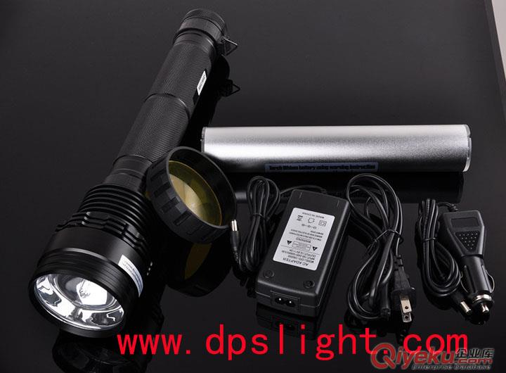 迪普思新款带电量显示 HID氙气强光手电筒