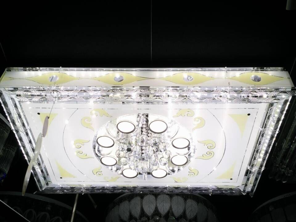 现代双色低压灯,一米二隔离驱动水晶平板灯厂家,双色现代客厅吸顶灯