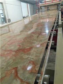 供应上海金纬机械PVC石塑线条及仿大理石板挤出生产线