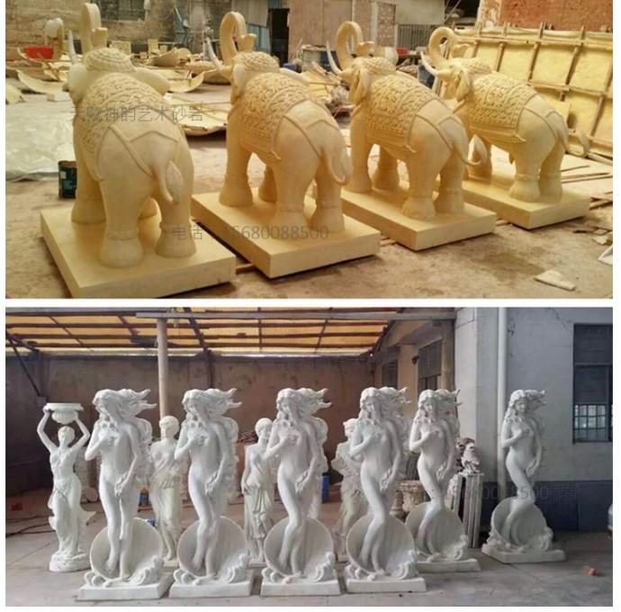 欧式人物圆雕别墅景观园林人造砂岩石雕塑喷泉美女拿葡萄-淘宝网(图)
